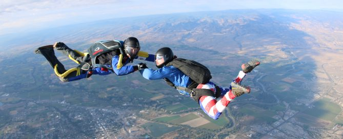 earning your skydive b-license